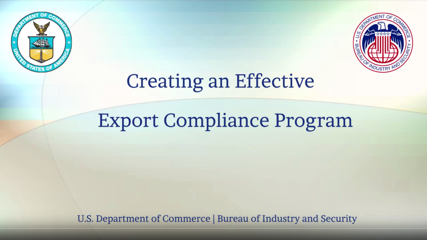 Creating an Effective Export Compliance Program