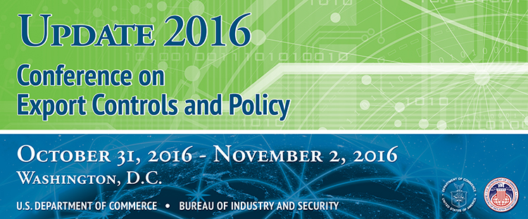 Update 2016 Conference on Export Controls and Policy